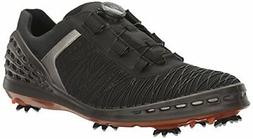 ECCO Men's CAGE EVO BOA Golf Shoe, Black/Fire, 43 EU/9-9.5 M