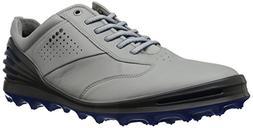 ECCO Men's Cage Pro Golf Shoe, Concrete/Bermuda Blue, 43 M E