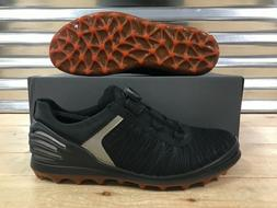 ECCO Cage Pro BOA Golf Shoes Spikeless Black Orange Silver S