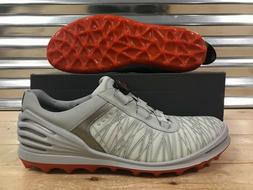 ECCO Cage Pro BOA Golf Shoes Spikeless Gray White Orange SZ