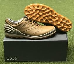 ECCO Cage Pro Men's Spikeless Golf Shoes Camel Brown Size 43