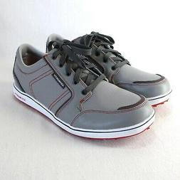 Ashworth Cardiff ADC Golf Shoes Mens Sz 8.5 Gray Leather Wat