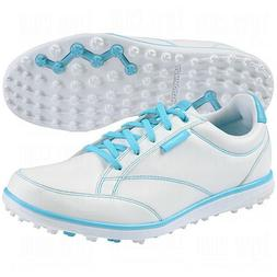 Ashworth Womens Cardiff Adc Golf Shoes, White/Light Aqua/Air
