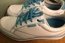 Ashworth Cardiff ADC Women's Golf shoes- Size 8 White/Blue *