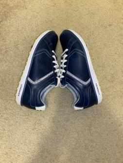 Ashworth Cardiff Golf Shoes Spikeless Sz 10 Mens Blue Leathe