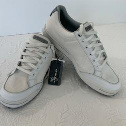 Ashworth Cardiff Men's Golf Shoe White Cotton Leather Size 9