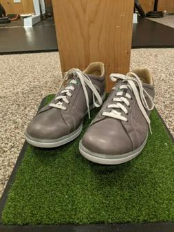 Ashworth Cardiff Spikeless Golf Shoes Men's US 9.5 Gray & Wh