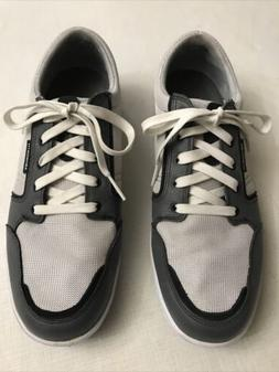 ASHWORTH Cardiff Spikeless Lace Up Golf Shoes Grey/Black  Me