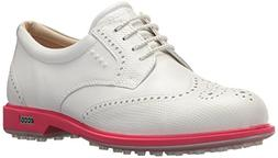ECCO Women's Classic Hybrid Golf Shoe, White/Teaberry, 39 M