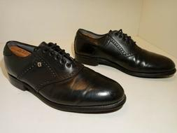 Footjoy Classics Dry Golf Shoes Black Leather Men's 10 D