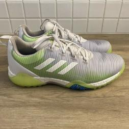Adidas CodeChaos Boost Golf Shoes GreyWhite/Green/Blue Mens