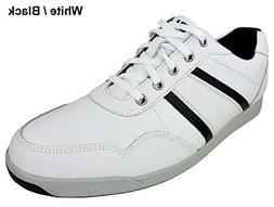 Men's Footjoy Contour Casual Spikeless Golf Shoe White/Black