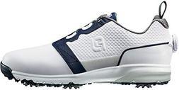 FootJoy Contour Fit BOA Golf Shoes 54099 White/Navy - 10.5 M