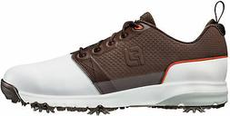 contour fit golf shoes 54096 white brown