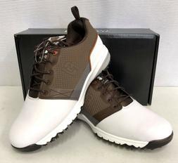 FootJoy ContourFIT Mens Golf Shoes - White Brown - #54096 -