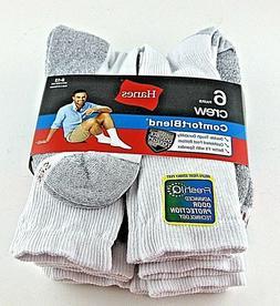 Hanes Men's 6 Pack Crew Socks