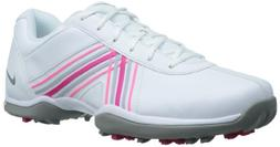 Nike Golf Women's Nike Delight IV Golf Shoe,White/Pink Force