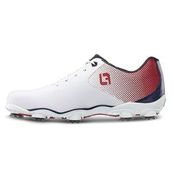 FootJoy Men's DNA Helix Golf Shoes 53317 - White/Red/Blue -