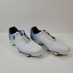 FootJoy DNA Helix Golf Shoes 53334 White/Blue Men's 8.5