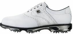 FootJoy DryJoys Tour Golf Shoes 53673 White/White Croc Men's