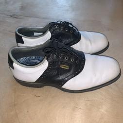 FootJoy DryJoys Tour Mens Golf Shoes Cleats Size 11 Black Wh