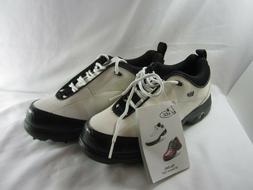 Bite DXL Mens Golf Shoes Size 10 White and Black. Sport Clea
