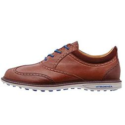 Ashworth Mens Encinitas Wing Tip Golf Shoes Brown Medium 11