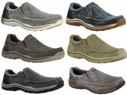 Skechers Expected Avillo Relaxed-Fit Men's Canvas Slip-On Lo