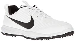 NIKE Men's Explorer 2 Golf Shoe, White/Black, 10 M US