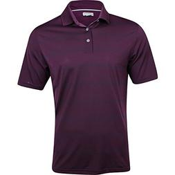 Ashworth Mens EZ-SOF Polo Solid Golf Shirt in Purple and Blu