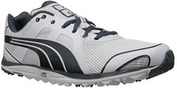 PUMA Men's Faas Lite Mesh 2.0 Golf Shoe,White/Turbulence,7.5