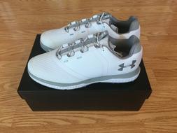 Under Armour Women's Fade RST Golf Shoe, White /Overcast Gra