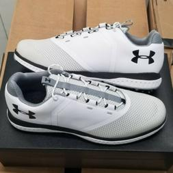 Under Armour Fade RST White Waterproof Golf Shoes Men's Size