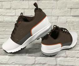 Footjoy FJ Contour Fit Golf Men's Golf Shoes White/Brown 5