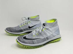 NIKE FLYKNIT ELITE GOLF SHOES 844450-002PLATINUM/VOLT/BLACK