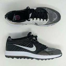 Nike Flyknit Racer G Golf Shoes Flywire Phylon Oreo Black Wh