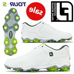 Footjoy 2019 Tour-S Golf Leather Shoes Waterproof White/Grey