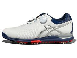 Asics Gel Ace Tour 3 BOA Golf Shoes - White/Silver/Blue