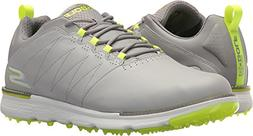 Skechers Men's Go Elite 3 Golf-Shoes,gray/lime,10 M US