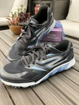 Sketchers Go Golf Blade Shoes Women's Size 9.5 Gray/Blue Wat