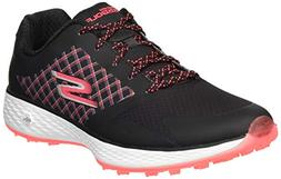 Skechers Women's Go Golf Eagle Major Shoe, Black/hot Pink, 1