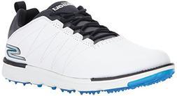 Skechers Men's Go Golf Elite 3 Golf Shoe,White/Navy,11 M US