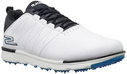 Skechers Men's Go Golf Elite 3 Shoe,white/navy,10.5 W US