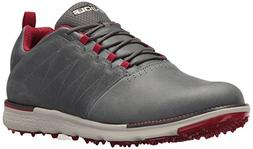 Skechers Men's Go Golf Elite 3 Lx Golf Shoe,Charcoal/Red,10