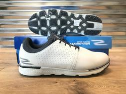Skechers Go Golf Elite V.3 Approach Golf Shoes White Gray Me