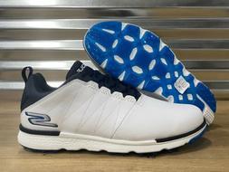 Skechers Go Golf Elite V.3 Golf Shoes White Navy Blue SZ 8