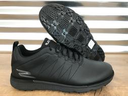 Skechers Go Golf Elite V3 Golf Shoes Triple Black Silver Ext