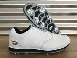 Skechers Go Golf Pro 3 LX Golf Shoes White Navy Blue Gray Me
