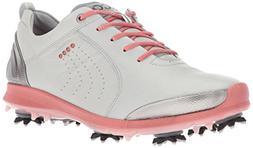 ECCO Women's BOIM G 2 Free Golf Shoe, Concrete/Silver Pink,