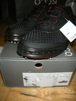 ECCO GOLF CAGE EVO GOLF SHOES 45 US  11-11.5  BLACK/BRICK NI